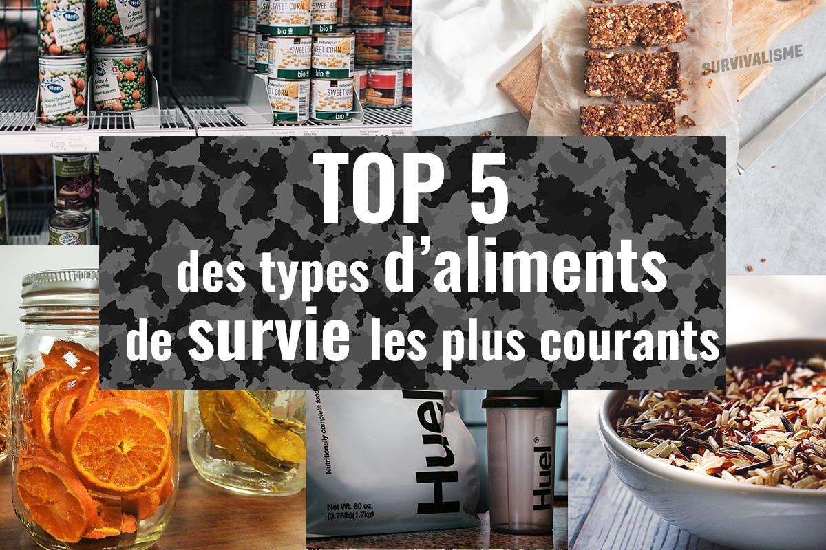 aliments de survie les plus courants