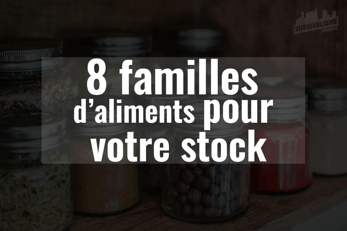 8 familles d'aliments